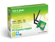 WiFi и LAN адаптери TP-LINK 300Mbps Wireless N PCI Express Adapter