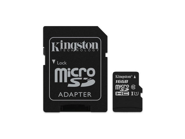 Карти памет 16GB microSDHC Kingston Canvas Select Class 10