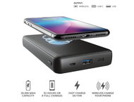 Батерии Trust Primo Wireless Charging Powerbank 20.000 mAh