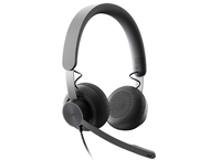Слушалки Logitech Zone Wired, Graphite