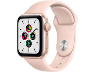 Смарт часовници Apple Watch SE GPS, 40mm Gold Aluminium Case with Pink Sand Sport Band - Regular