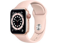 Смарт часовници Apple Watch S6 GPS, 44mm Gold Aluminium Case with Pink Sand Sport Band - Regular