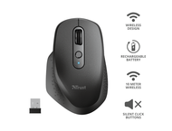 Мишки TRUST Ozaa Rechargeable Wireless Mouse - back