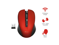 Мишки TRUST Mydo Silent Wireless Mouse red