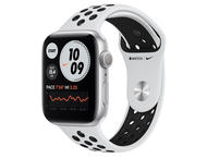 Смарт часовници Apple Watch Nike S6 GPS, 44mm Silver Aluminium Case with Pure Platinum/Black Nike Sport Band - Regular
