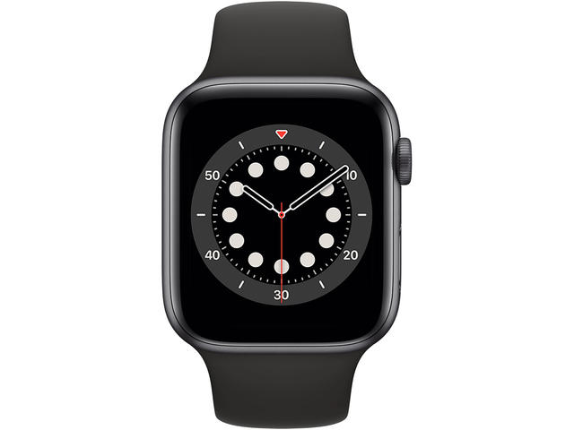 Смарт часовници Apple Watch S6 GPS, 40mm Space Gray Aluminium Case with Black Sport Band - Regular