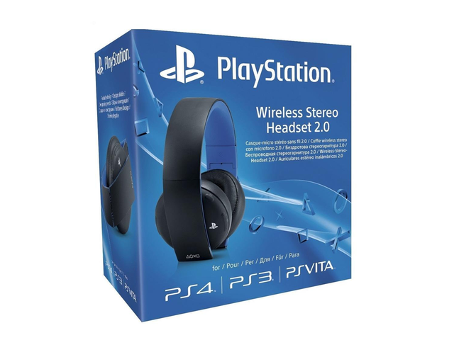 Слушалки Sony PlayStation Wireless Stereo Headset 2.0, в черно
