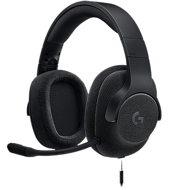 Logitech G433 Gaming Headset, в черно