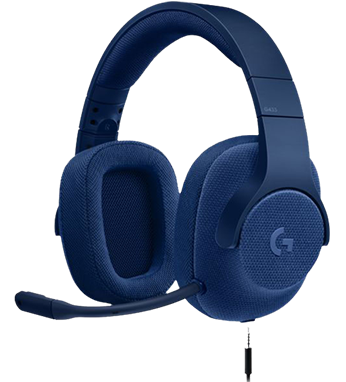 Logitech G433 Gaming Headset, в синьо