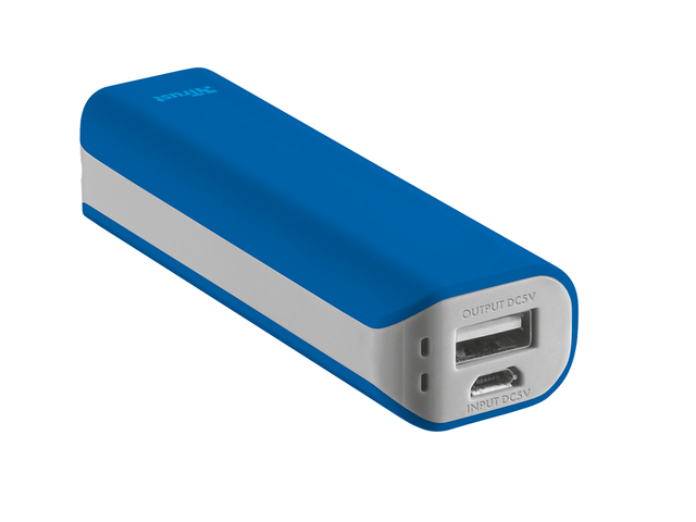 TRUST Primo Power Bank 2200 mAh, в синьо