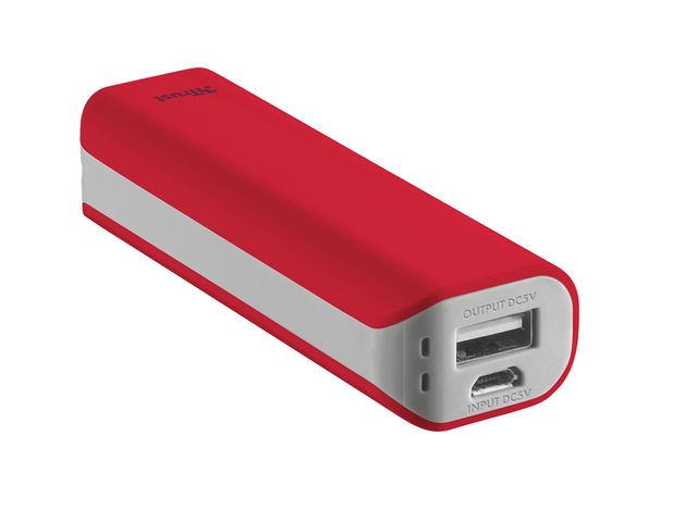 TRUST Primo Power Bank 2200 mAh, в червено