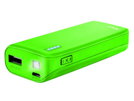 TRUST Primo Power Bank 4400 mAh,  в зелено