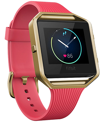 Fitbit Blaze Tapered Pink/Gold, Large
