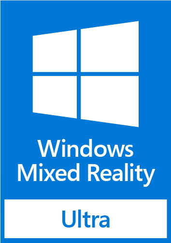 Badge - windows mixed reality ultra - rgb blue